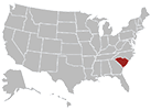 South Carolina map